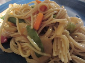 Faux Vegetable Lo Mein