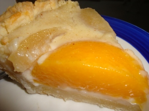 Peaches and Cream Pie - with some pears because I didn't have enough peaches...