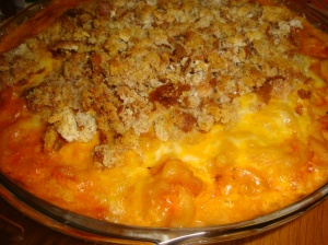 Macaroni and Cheese with Tomato and Chicken