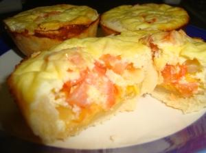 Mini Cheese, Onion and Tomato Quiches