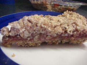 Raspberry Oatmeal Bar