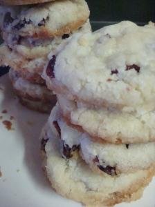Cranberry Jewelled Shortbread Cookies