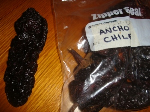 Ancho Chiles, special ones! One with smiles in inside them.