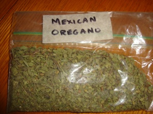 Mexican Oregano, but no ordinary Mexican Oregano, this is full of love too!!