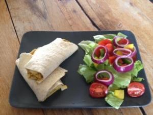 Aimee's Amazing Chicken Korma Wrap