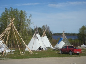Family tipis at the feasting grounds.