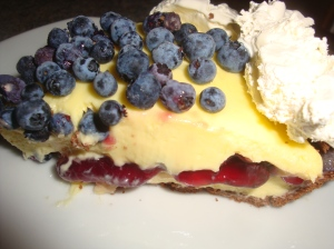 Lemon and Blueberry Pie