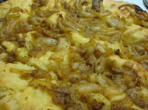 Onion Focaccia Tart